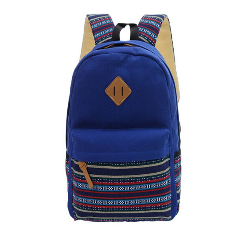 Мода 2017 г. бренд Для женщин Холст Школа кожаная сумка Рюкзак Девушка дорожная сумка рюкзак высокое качество бесплатная доставка