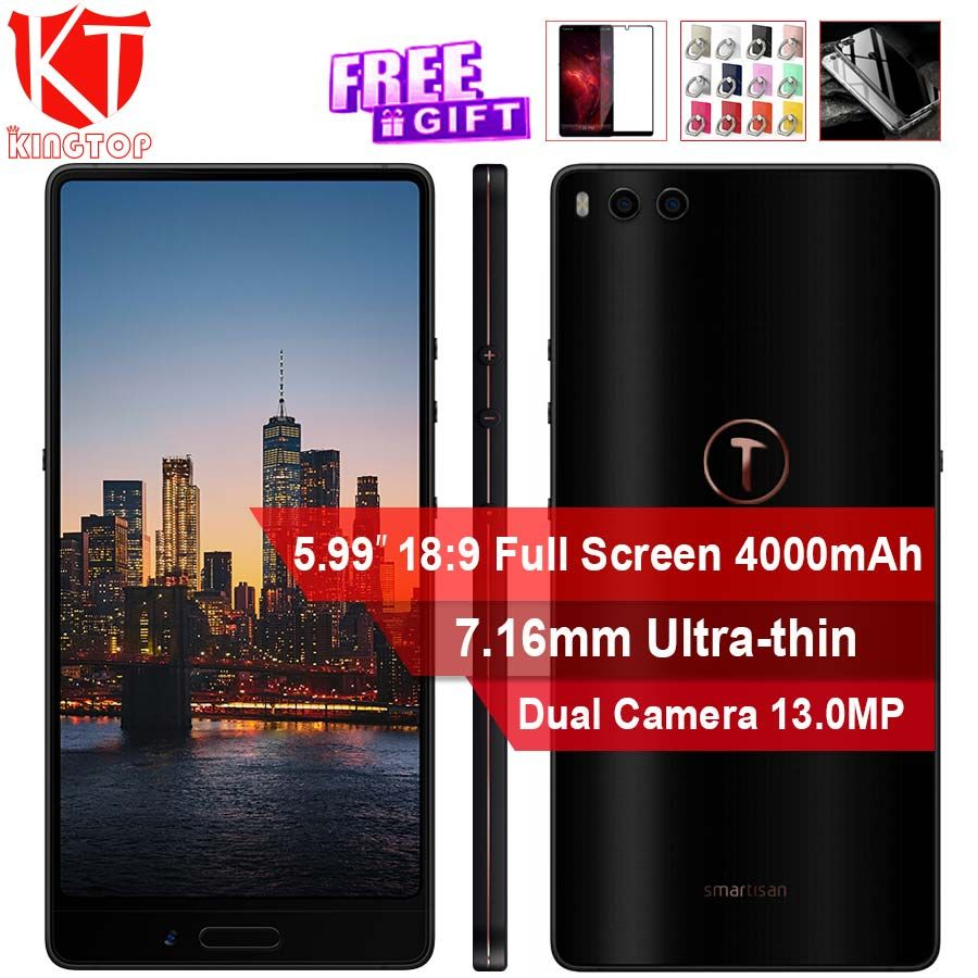 Original Smartisan Nut 3 4G Mobile Phone 4GB 32GB/64GB Snapdragon 625 5.99'' Dual Rear Camrea Quick charge 4000mAh smart phone
