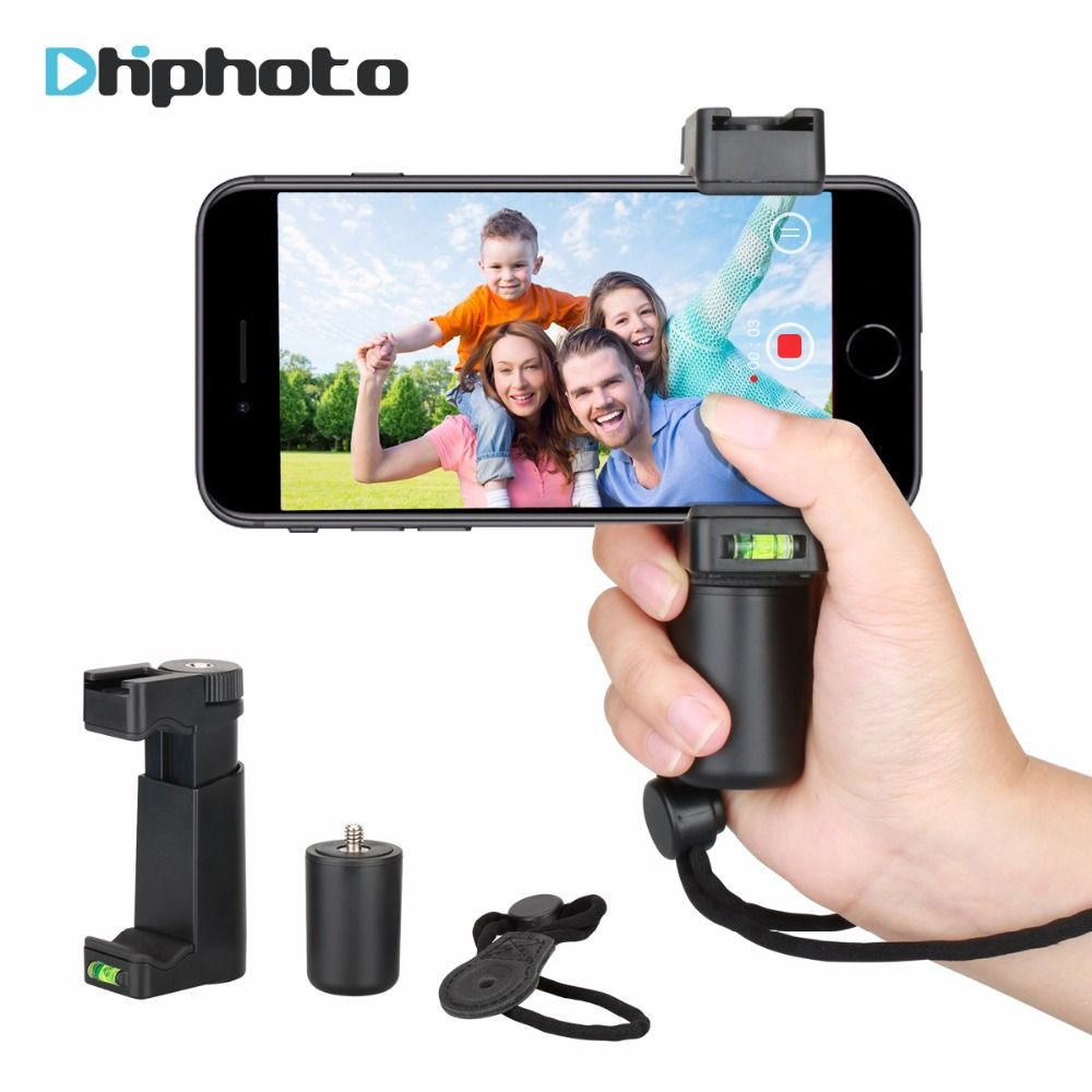 Ulanzi F-Mount Smartphone Grip Handle Rig Tripod Mount Adapter with Wrist Strap&Cold Shoe Mount for Led <font><b>Video</b></font> Light Microphone