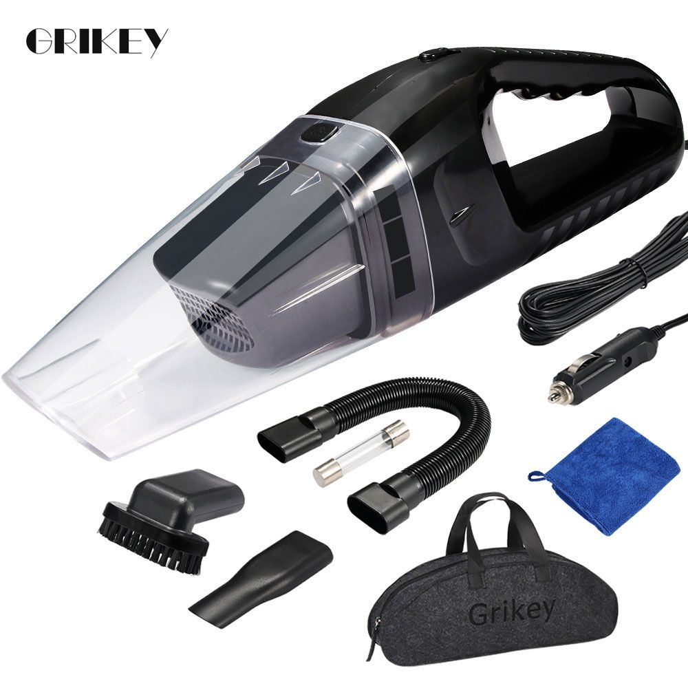 GRIKEY voiture aspirateur pour voiture Portable aspirateur à main 12V 120W Mini voiture aspirateur Auto aspirateur Coche