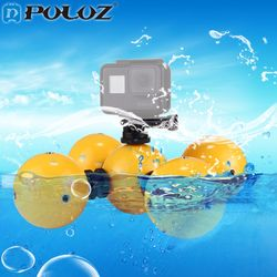 5PCS PULUZ Underwater Camera Floating Ball Buoyancy ball for Gopro 5 4 Session Mini Floaty Holder for Gopro5 4 3+SJCAM Xiaoyi 4k