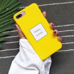STROLLIFE Lettres SE SENTIR BIEN Téléphone Cas Pour iPhone 8 Cas Mince Mignon Couleur de sucrerie Couverture Rigide Coque Pour iphone X 6 S 7 8 Plus 5 cas