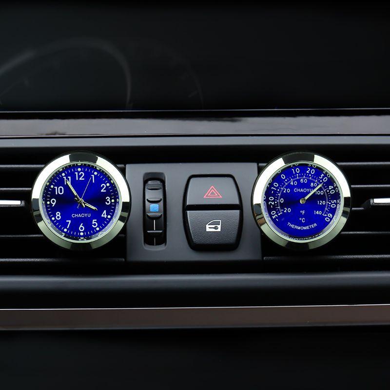 Новый Авто кварцевые часы Стайлинг автомобиля часы воздуха на выходе автомобилей использования с Духи 100 Оригинал для BMW VW Гольф 4 5 Mercedes Ford ...
