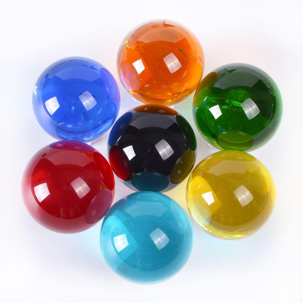 1 Pièce 80mm Différentes Couleurs Verre Choisi Balle Feng Shui Sphère Boule de Cristal Globe Artisanat Pour Les Cadeaux et Décoration accessoires