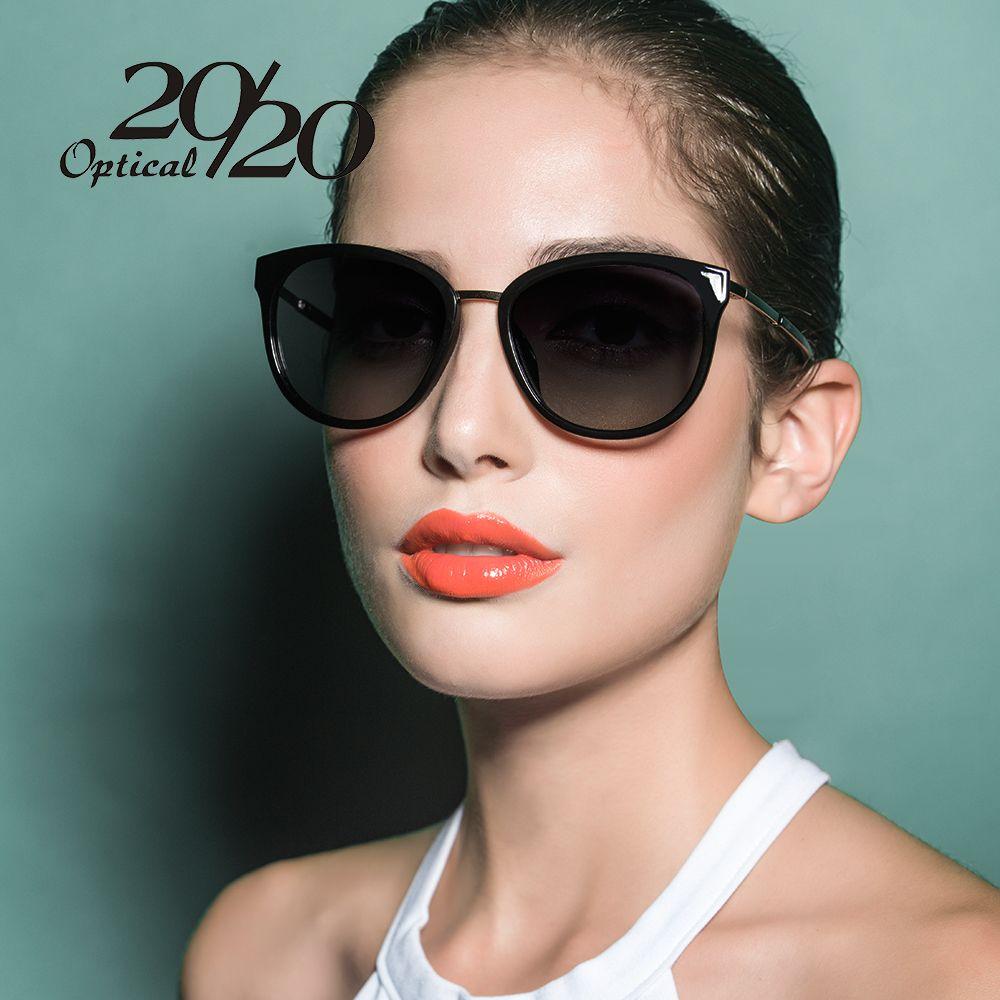 20/20 lunettes de soleil polarisées femmes rétro Style métal cadre lunettes de soleil célèbre dame marque Designer Oculos Feminino 7051