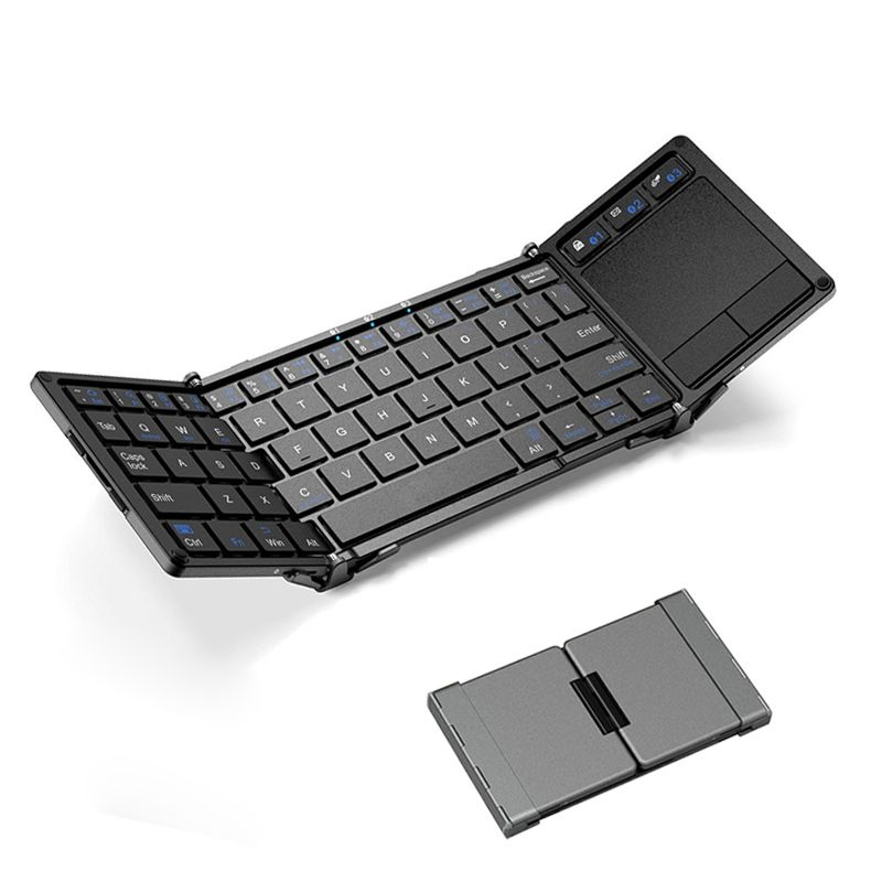 Universal Folding Keyboard Touchpad With Stand For Hua Wei Portable Wireless Foldable Touchpad Keyboard For iPhone Tablets