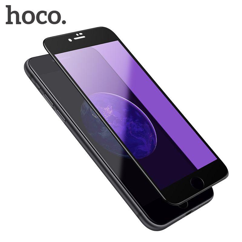 Film de protection en verre trempé Anti-rayons bleus HOCO pour iPhone 7 8plus couvercle de protection d'écran tactile complet pour écran iPhone 7 8