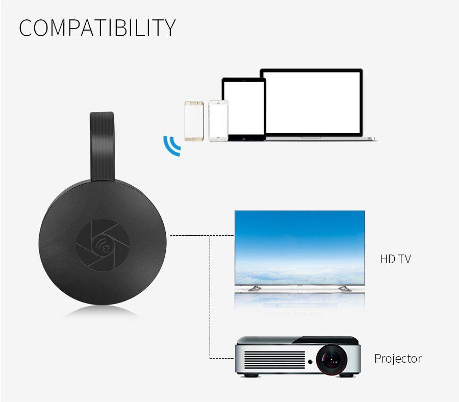 Mirascreen G2 Chromecast 2 mirroring multiple TV stick Google Chromecast 2 Adapter Mini PC Android Chrome Cast HDMI WiFi Dongle