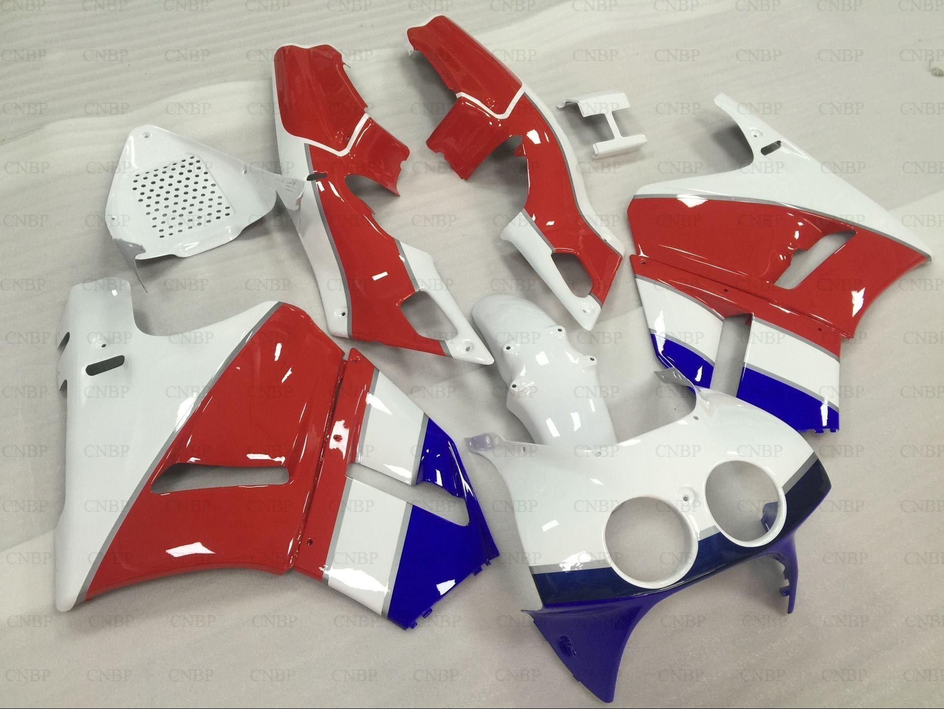 Verkleidung Kits VFR400R 1990 Verkleidung für Honda VFR400 1992 1988-1992 NC30 V4 Rot Weiß Blau Karosserie für Honda VFR400 1991