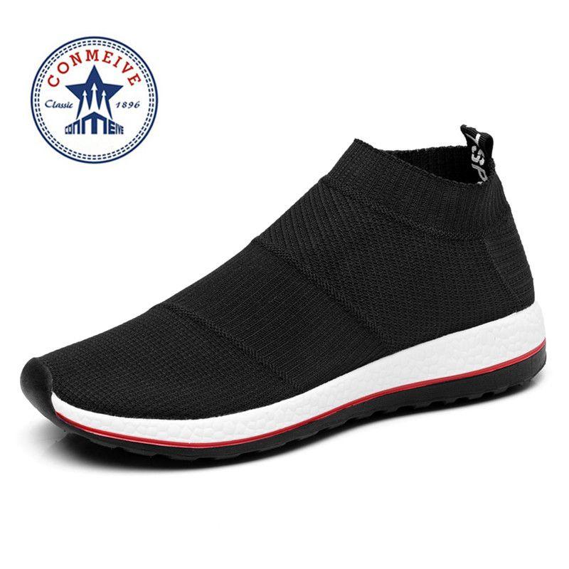 Vente chaude chaussures de course pour hommes femmes sneakers sport baskets pas cher Lumière Runing Respirant Slip-Sur La Maille (Air mesh) large (C, D, W)