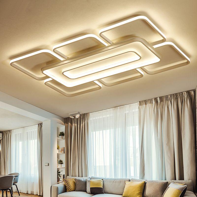 brown/white Modern led Ceiling Lights led lampfor Bedroom Livingroom Ceiling Lamp luminaria de teto Home Lighting plafonnier led