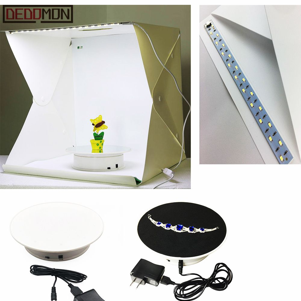 20cm 360 degrés électrique rotatif plateau tournant présentoir pour photographie charge Max 1.5kg vidéo accessoires de prise de vue plaque tournante batterie