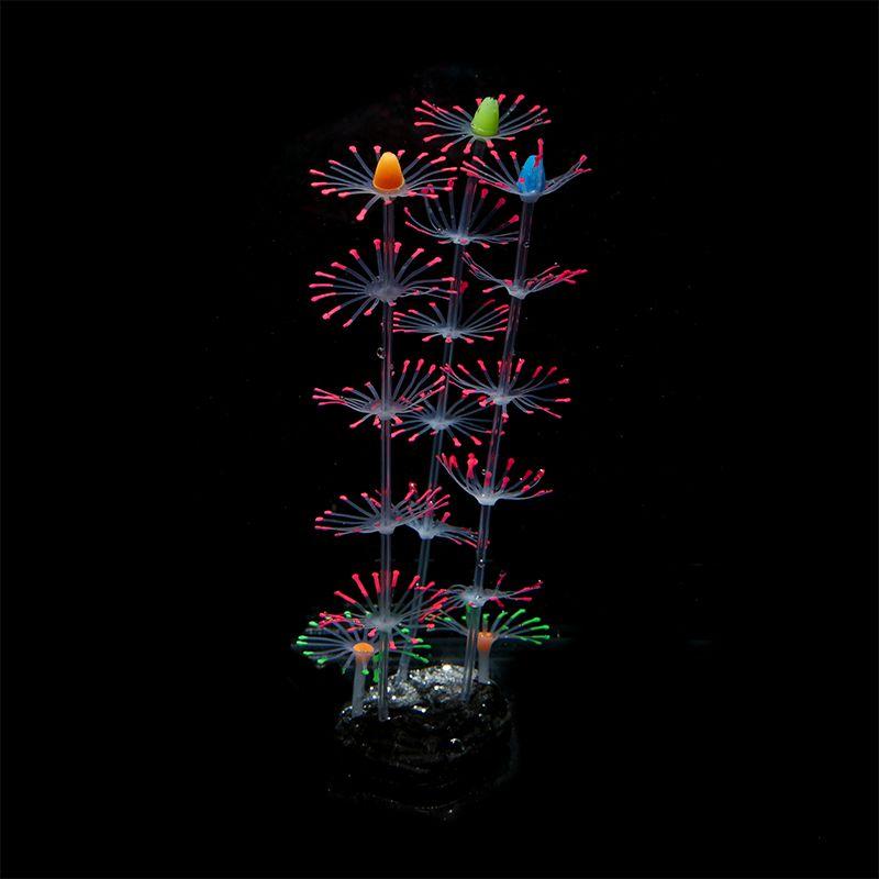 Silicone simulation artificielle de corail plante fleur ornements aquarium aquarium aquarium fait avec effet fluorescent décor dynamique