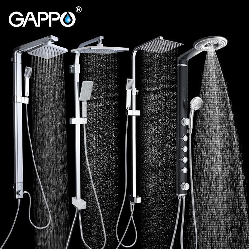 GAPPO bathroom shower faucet wall bath shower faucets set Waterfall wall shower mixer tap bathtub taps rain shower head set