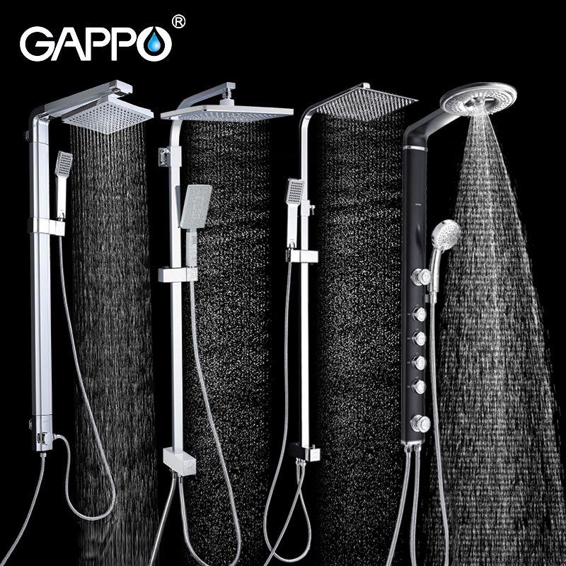 GAPPO salle de bains douche robinet mur de bain robinets de douche Cascade mur douche mitigeur ensemble ABS baignoire robinets pluie douche têtes