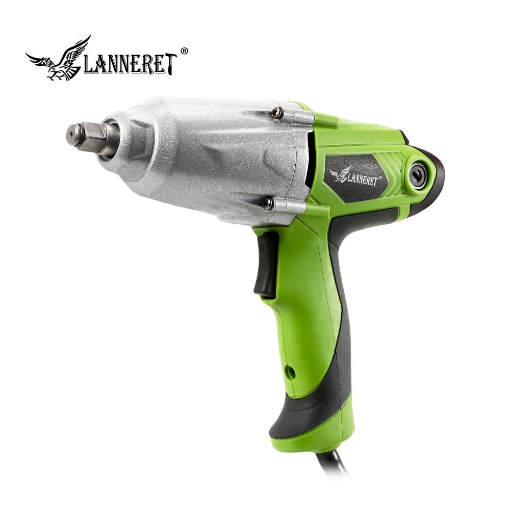 LANNERET 450W 300Nm Max Torque 1/2 inch Car Socket Electric Impact Wrench DIY Household Electric Wrench Changing Tire Tools