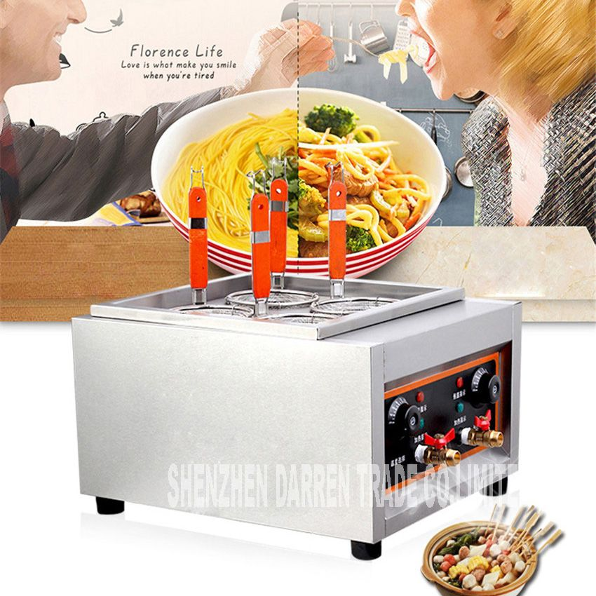 Commercial Electric Pasta cooker JD-JML4 Electric Noodle machine 4 pots stainless steel Pasta boiler cooker Electric fryer 4KW