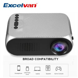 Excelvan YG320 Mini Projector Led Projector Proyector 500LM Audio HDMI USB Mini YG-320 Projetor Home Theater Media Player Beamer