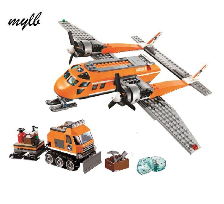 Mylb D'approvisionnement de L'arctique Avion Modèle kits de construction compatible avec ville 3D blocs Éducatifs jouets loisirs pour enfants drop shipping