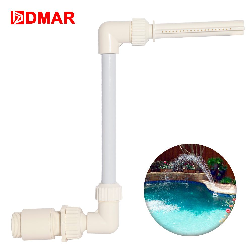 DMAR Swimming Pool Waterfall Fountain Equipment Decor Above-grod In-ground Pools Waterfall Home Decor Pool Tool Toys Accessory