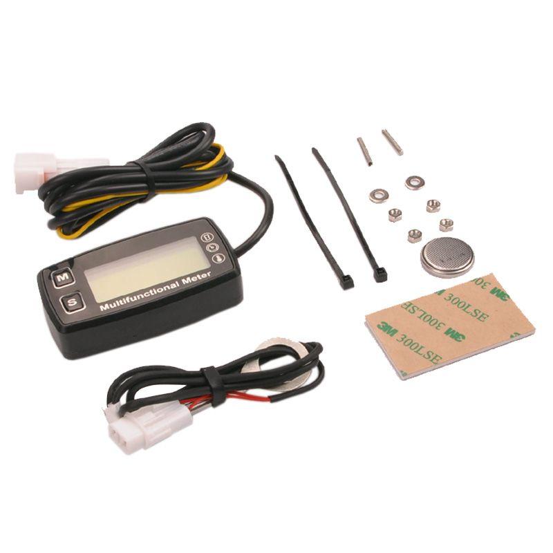 Digital LCD RL-HM035T drehzahlmesser betriebsstundenzähler thermometer temperatur für gas UTV ATV außenbord buggy traktor JET SKI motorschirm