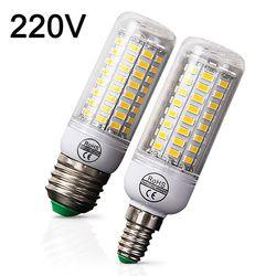 E27 E14 CONDUZIU a Lâmpada Lâmpada LED 220 V Milho Bulbo Warm White Branco Frio 24 36 48 56 69 72 LEDs para Casa Sala de estar Moderna LEVOU Luz