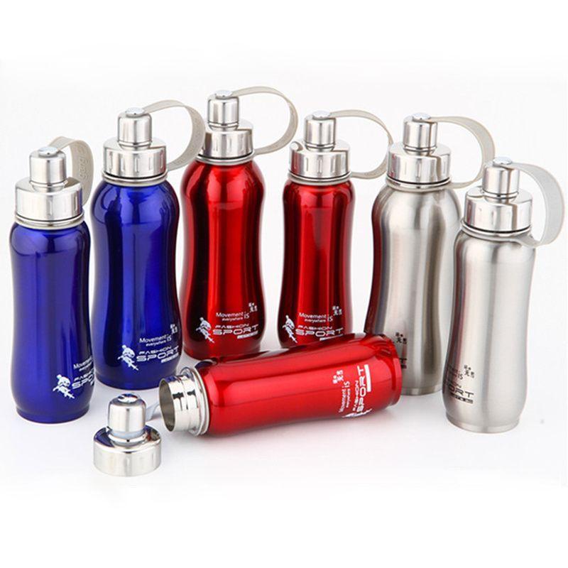 Pot hermal de bouteille d'eau d'acier inoxydable de 1000 ml 800 ml 600 ml portable pour le voyage de bouteilles de bicyclette