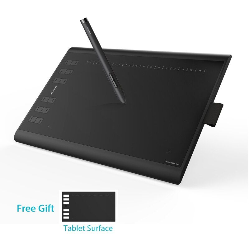 HUION NEUE 1060 Plus 10x6,25 zoll Grafik Zeichnung Tablet Digitalen Stift Tablet mit 8192 Ebenen 8 gb SD karte und Freies Film