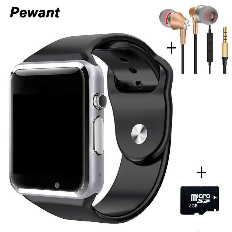 Meilleur vendeur Bluetooth Android montre intelligente A1 W8 Smartwatch passomètre Message Sync horloge intelligente avec caméra SIM TF carte Smartwach
