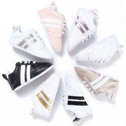2017 nueva moda sneakers bebé recién nacido Patucos Niños Niñas suela suave del niño Primeros pasos Zapatos de bebé