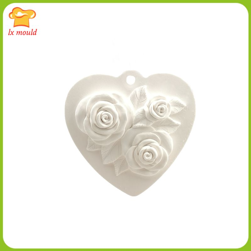 2017 neue liebe rose hochzeit kerze seife silikonform aromatherapie gips dekoration silikonform werkzeug