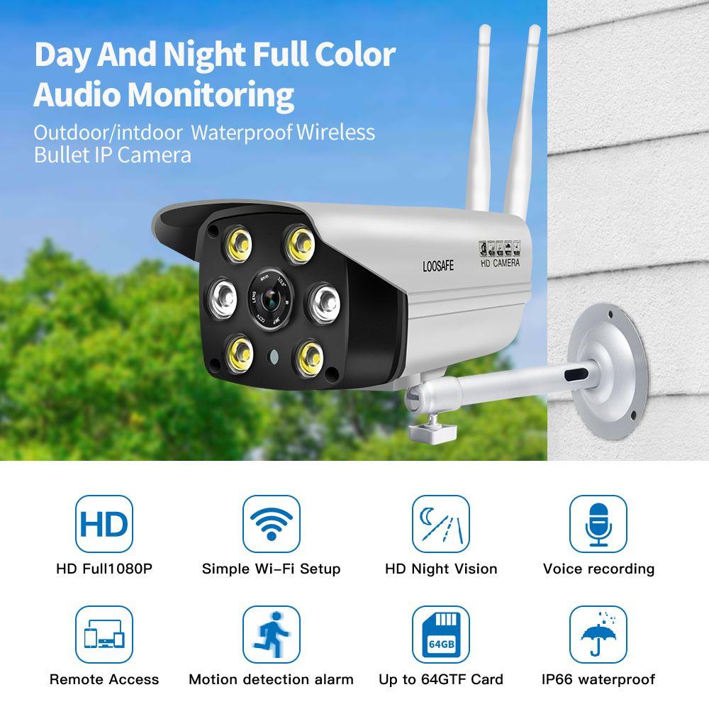 LOOSAFE Überwachung AP Hotspot Wifi Motion Kameras Outdoor Sicherheit IP Kamera Mit Nachtsicht Volle Farbe onvif Kamera IP WIFI