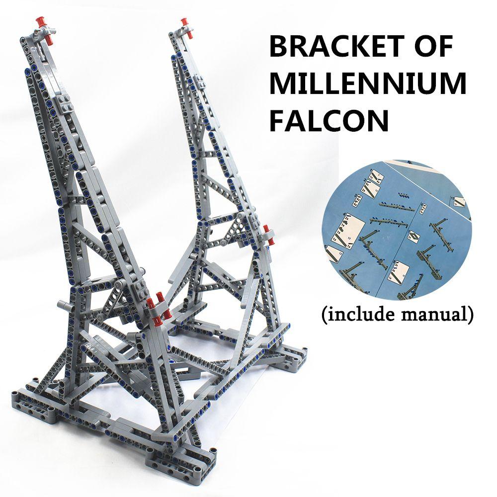 MOC Vertikale Display-ständer für Millennium Falcon Kompatibel mit lego Stehen für No. 05132 und No. 75192 Ultimative sammler modell