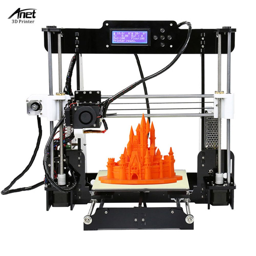 Cheap Anet A8 3D Printer High Precision Upgraded Reprap Prusa i3 Desktop DIY 3D Printer Kit 2004LCD Printing Size 220*220*240MM