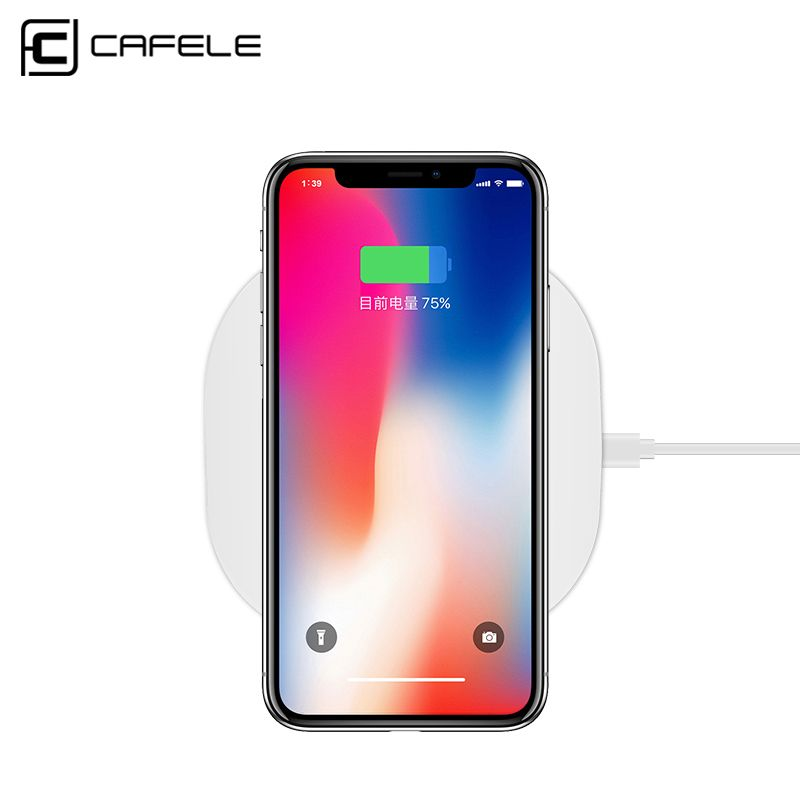 CAFELE Universal Qi Wireless Charger for iPhone X 8 Plus Samsung S8 S7 S6 <font><b>edge</b></font> Fast Wireless Charging Pad Charger for iPhone X 8