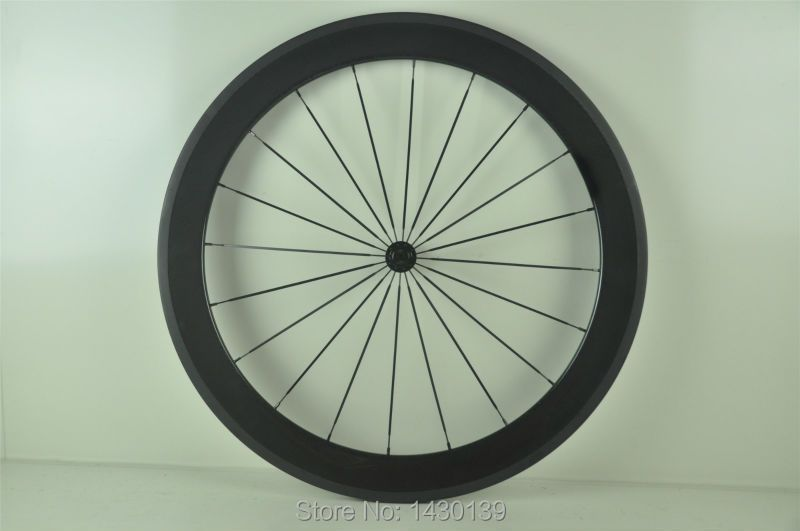 1pcs 700C 60mm Track Fixed Gear Road bicycle full carbon bike wheelset tubular rims Free shipping