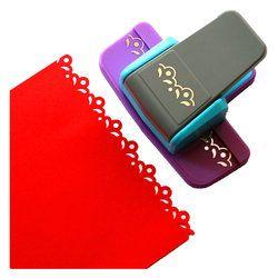 Nuevo estilo Fancy border sacador belleza flor diseño espuma papel scrapbooking para DIY artesanía