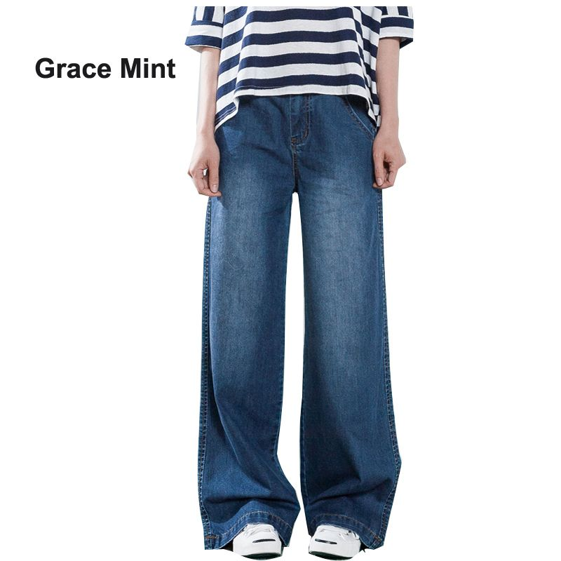 S-4XL Plus Size Loose Jeans Women Casual Jeans 2018 Summer Autumn Thin Denim Trousers Straight Wide Leg Jeans