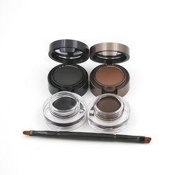 Eyebrow Powder Eyebrows +Eyeliner Gel Long-Wear Gel Eyeliner Brown With Brush 1pcs 2color Waterproof Sweat Eye Brow Powder M1096