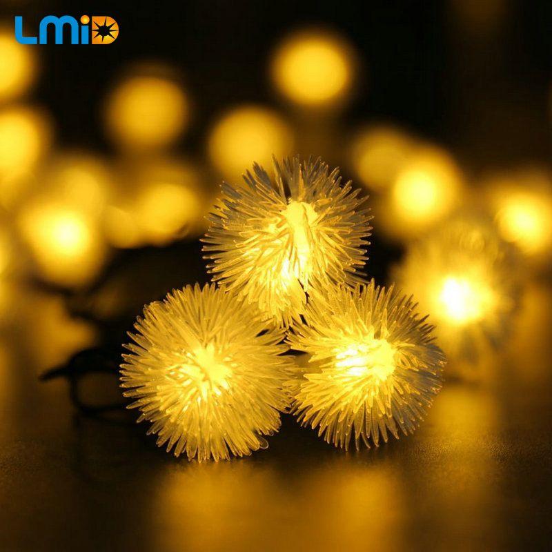 LMID Jardín Al Aire Libre Luz 4.8 M 15.75FT 20 Led Solares Luces De Navidad bola de Nieve 8 Modos Impermeable de Hadas de la Secuencia Solar