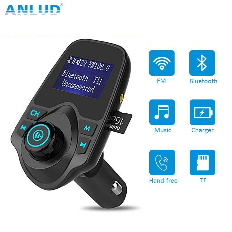Sans fil Bluetooth FM Transmetteur FM Modulator Mains Libres Voiture Kit Radio Adaptateur USB Chargeur MP3 Lecteur de Musique Pour iPhone Samsung