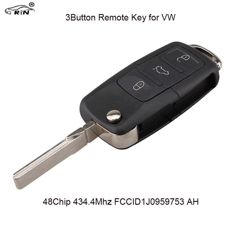 RIN Remote Key for VW Volkswagen Passat Bora Golf Polo Beetle SKODA Fabia Superb Roomster Car Keys Vehicle 1J0 959 753 AH
