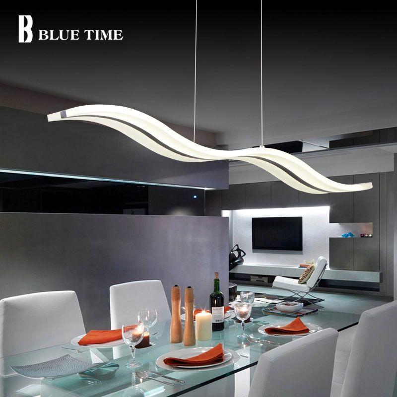 38W Kitchen Led Pendant Light Modern For Living Room Dining Room Hanglamp LED Lustre Acrylic Pendant Lamp Home Lighting Fixtures