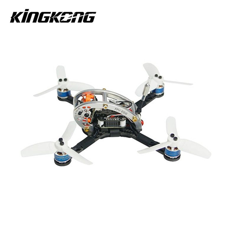 Kingkong FPV EGG 136mm Racing Drone BNF W/ F3 4in1 10A BLehil_S 25mW/100mW 16CH 600TVL For Runcam for Frsky Flysky Receiver