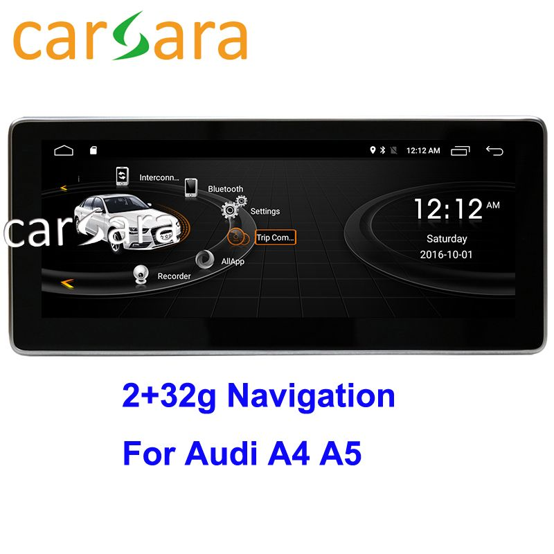 Au di A4 A5 2009-2016 Kopf Einheit DVD Player Auto Radio System Touchscreen Android 2g RAM 32g ROM Navigation Monitor