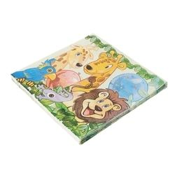 King Lion Jungle animal design Cute pattern Napkin Tissue for Birthday Party Dec21    -B118