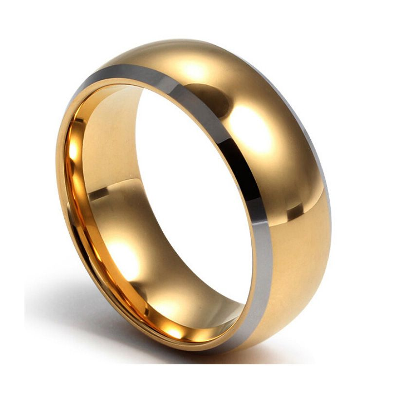 Top quality tungsten carbide rings 24k gold color engagement wedding men ring wholesale