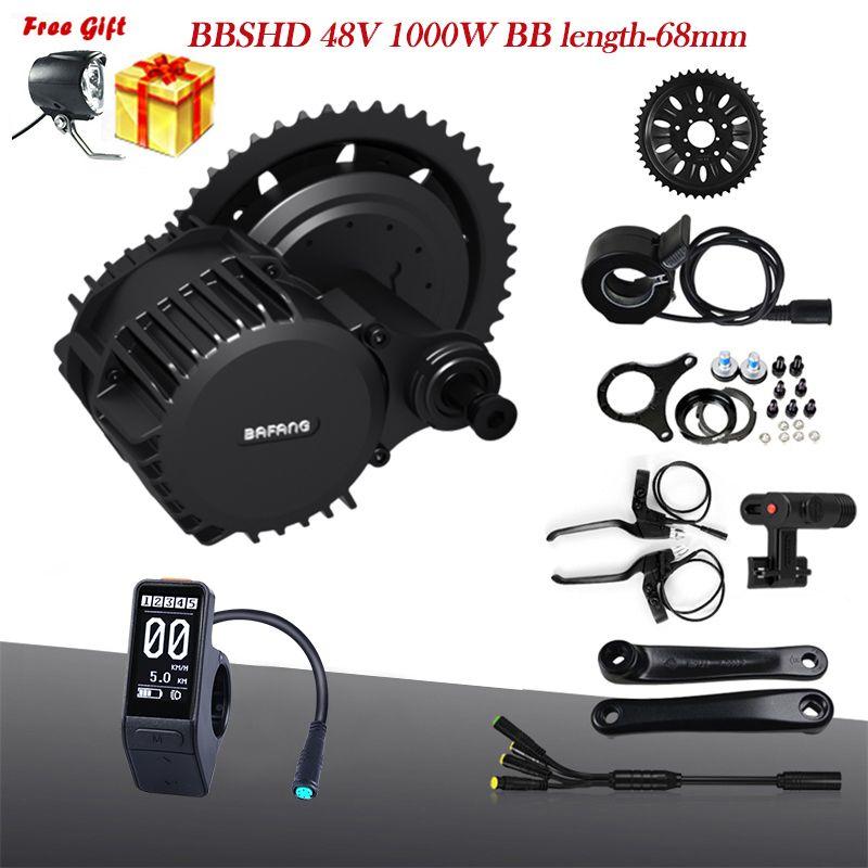 Bafang BBSHD 48V 1000W Mitte Kurbeltrieb Motor Kits 68mm Ebike Motor Elektrische Fahrrad Motor Kit Mit SW102/P850C/750C LCD Display