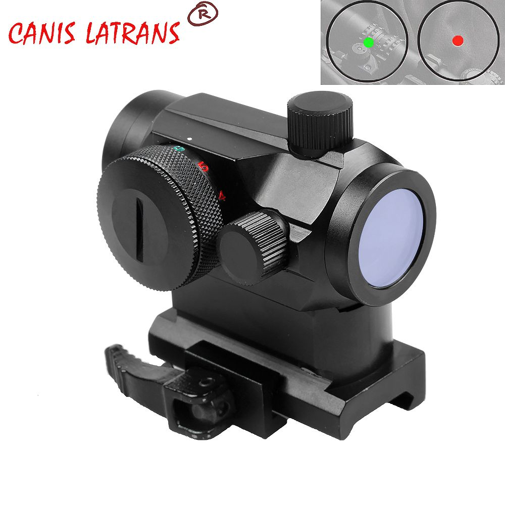 Mini 1X24 Rifescope Sight Illuminated Sniper Red Green Dot Sight With Quick Release Red Dot Scope Mount For Hunting Airgun