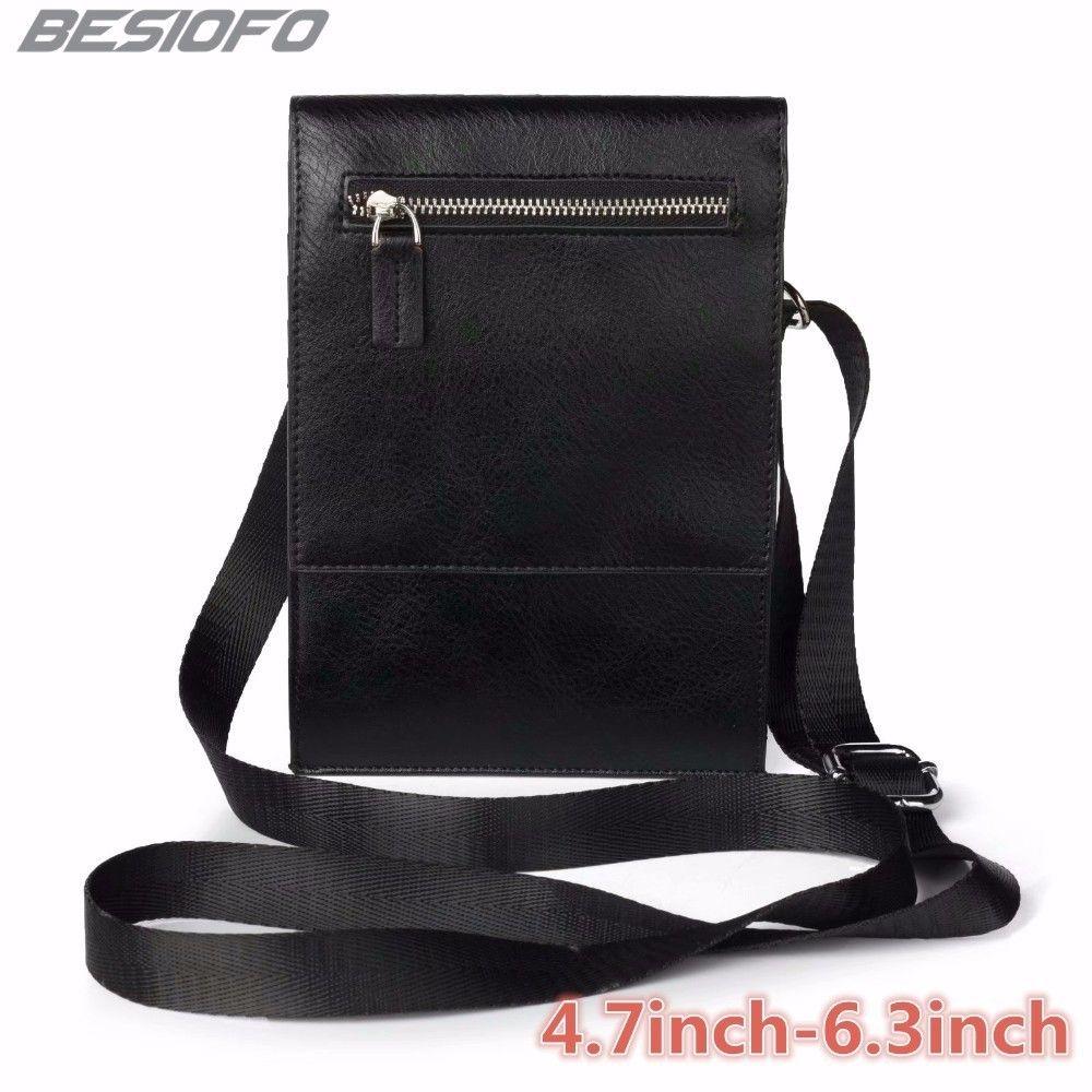 Zipper Holster Abdeckung Doppel Taschen Beutel Mit Gürtel PU Schulter Tasche Telefon Fall Für OPPO F1 F3 F5 F7 7A r9 R9S R11 R15 R17